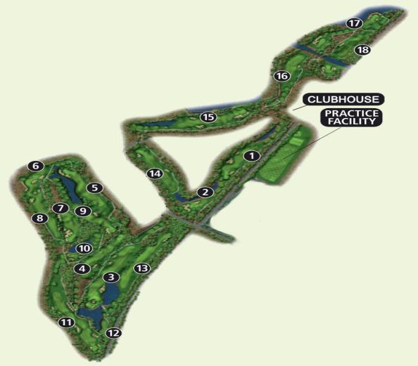 Nicklaus North Course Map